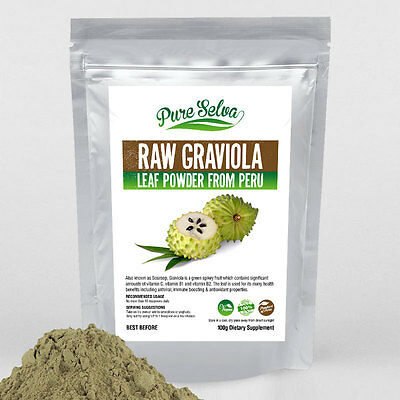 100% RAW GRAVIOLA SOURSOP leaf powder / superfood / antioxidant diet supplement