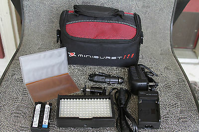 Digital Juice MiniBurst 128 LED Portable Video Light System - Mint Condition!