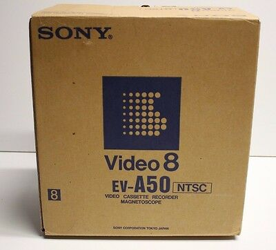 SONY EV-A50 Video8 8mm VCR Editing Player New Open Box