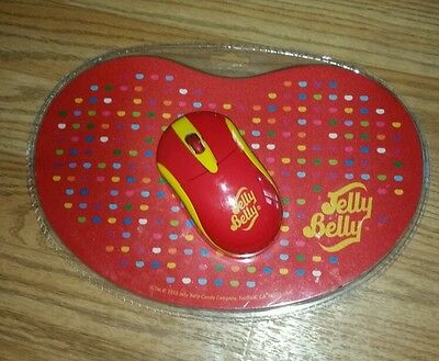 JELLY BELLY Optical Wireless Mouse & Mouse Mat Set - PC & Mac Compatible - NEW