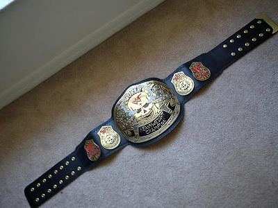 Smoking Skull WWF World Heavyweight Championship Wrestling Replica Leather Belt