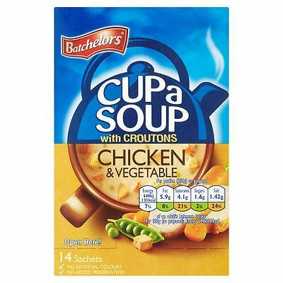 Batchelors Cup a Soup Chicken & Vegetable with Croutons 398g 14 Sachets