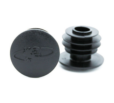 LIZARD SKINS Deluxe Bar-End Plugs for MTB, Mountain Bike - 1 Pair, Black OE pack
