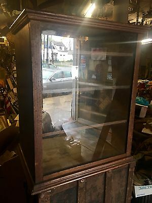 Turn Of Century Oak Display Cabinet For Restoration Shipping Ok