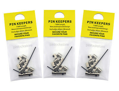 36 PCS New Design 7mm Pin Keepers/Locking Pin Backs-Never Lose a Pin Again!
