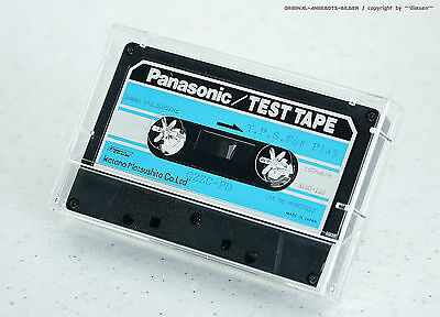 """Panasonic qzzc-pd """" T.P S. for Play Sweep s1g. 50/2kHz """" Test Tape Tapedeck NOS"""