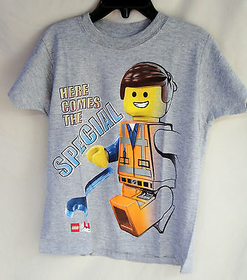 "Lego Short Sleeve Heather Grey ""here Comes The Special"" Tee Shirt Boy Size 4 Nwt"