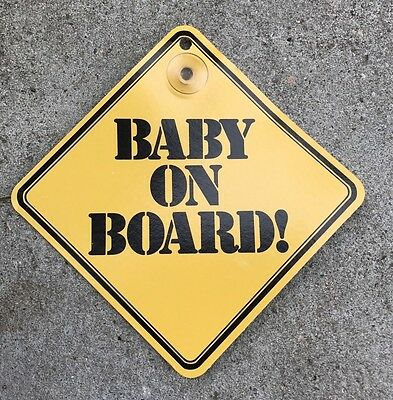 Baby On Board Safety Suction Cup Car Window Decal Sign Brand New