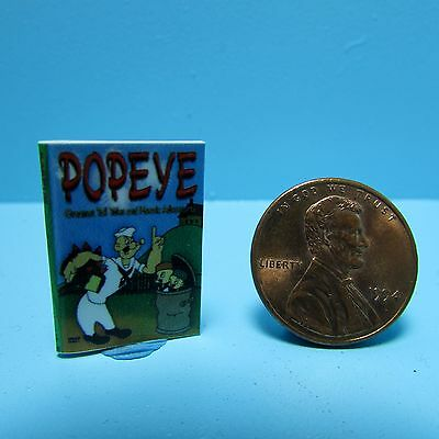 Dollhouse Miniature Replica of Popeye Book ~ B062