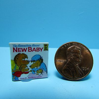 Dollhouse Miniature Replica of The Berenstain Bears New Baby Book ~ B048