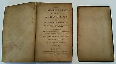 Antique/vintage Medical Book.1765.the Commentaries Upon The Aphorisms.prop.