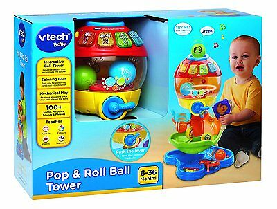 VTech Baby Pop and Roll Ball Tower - Multi-Coloured