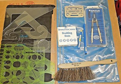 Staedtler Mars Quickbow Compass Drafting Set w/ Extras! Fast Free Shipping.