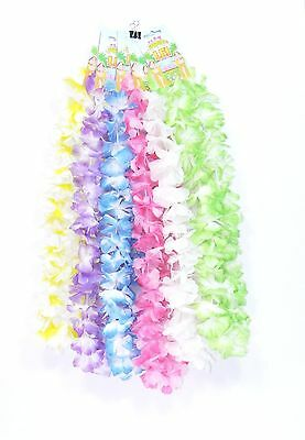 Hawaiian Flower Lei Garland Wreath | LUAU FANCY DRESS TROPICAL PARTY HAWAII USA