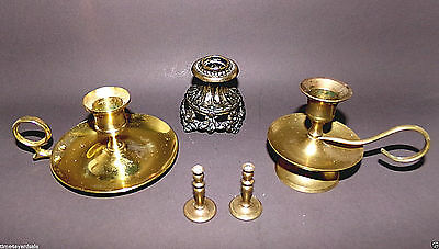 Vintage Brass/Metal Candlestick Candle Holders Set of 4 Various Sizes