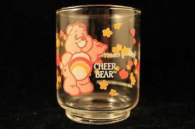 Care Bears Cheer Bear Vintage 1985  Feeling Cheerific Rainbow Small Juice Glass