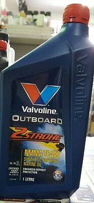 Valvoline Outboard 2 Stroke NMMA TC-W3 Synthetic Fortified Marine Oil 1L
