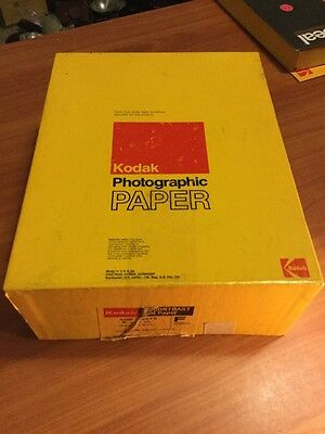 Vintage Kodak Photographic Polycontrast Rapid Paper 8x10 F Single Weight Exp6/74