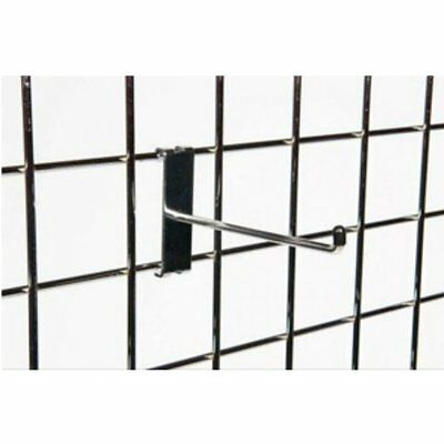 20 x Grid Mesh Wall Hooks 150mm Chrome