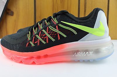 reputable site fec28 d8577 Nike Air Max 2015 Crimson Black Youth Sz 5.5 Same As Woman 7.0 New Running  Rare