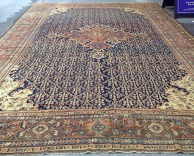 Tapis ancien Persan Sultanabad fait main 323cm x 463cm 1880s 1F35