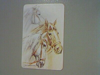 1 Swap/Playing Card -  Horses Heads (Blank Back)