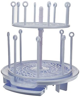 The First Years Spin Stack Drying Rack Two Adjustable Spinning levels New