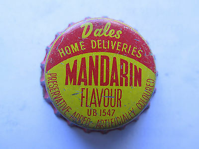 CROWN SEAL BOTTLE CAP MANDARIN FLAVOUR by DALES HOME DELIVERIES AUSTRALIA UNUSED