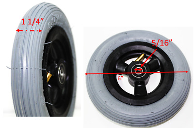 "6""x 1.1/4"" Wheelchair Casters Pneumatic Tires for Muti-Wheelchairs Transport NEW"