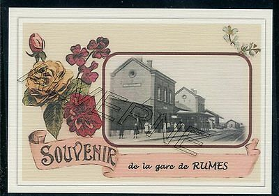 RUMES ..... GARE  souvenir  creation moderne  serie limitee numerotee