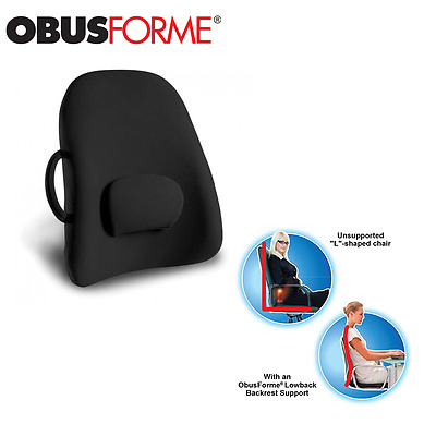 ObusForme Wideback / Lower Back Backrest Support Cushion for Seats / Chairs