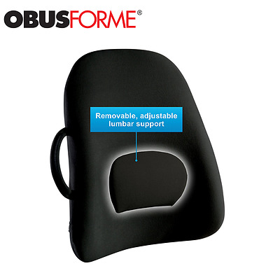 ObusForme Ergonomic Lower-Back Rest Support Cushion w Strap for Correct Seating