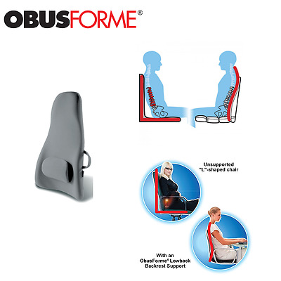 ObusForme High-Back Backrest Support Ergonomically Designed for Correct Seating