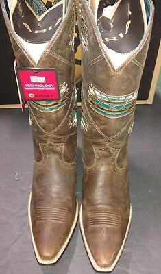 New Ladies Ariat Western Snip Toe Boots Size 11 B