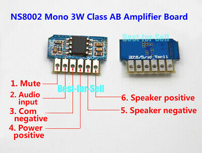 DC 3V-5V 3.7V 8002 3W Mono Micro Audio Power Amplifier Board AB Sound Amp Module