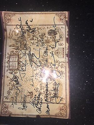 Poster signed by Harry Potter cast