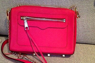 Rebecca Minkoff Red Cross Bag with Gold Chain - Authentic