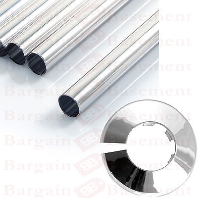 New Chrome Radsnaps Radiator Pipe Covers Sleeve Fitting Snappit + Rad Collars
