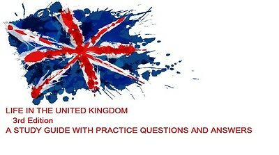 Life in the UK 3rd Edition Test Guide Book with Qs&As