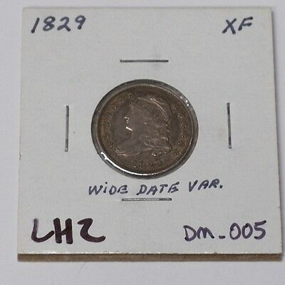 #337 - Dime - 1829 Capped Bust Wide Date Small 10C XF