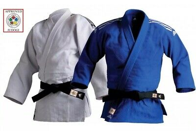 Adidas Judo Gi Suit Uniform Champion II Blue White IJF Approved Heavyweight