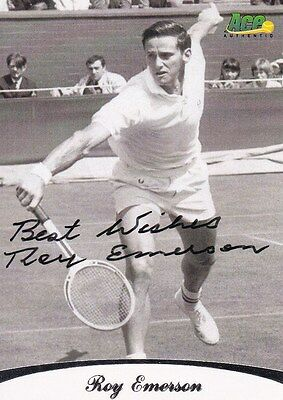 Roy EMERSON - austral. Tennis-Legende, Original-Autogramm!
