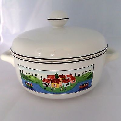 Villeroy & Boch Design Naif Boaters Village Round Covered Vegetable Bowl