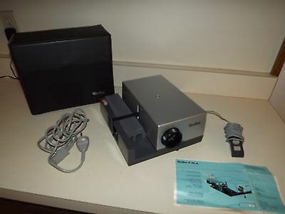 Vintage Rollei P35A Slide Projector Works with Original Case, Tray, and Remote