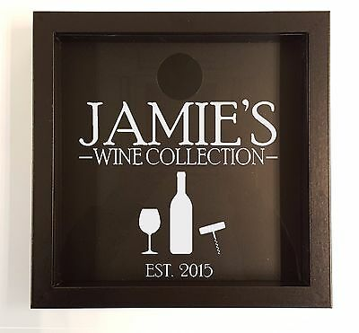 Personalised Wine cork holder, wine cork collection, wine cork shadow box