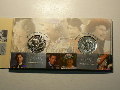 UK 1998, Royal Crown Portrait Collection From The Royal Mint, 4 Coins #G4691