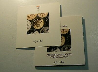 UK 1989  7 Coin Year Set From Royal Mint, Still in Original Plastic  #G4693