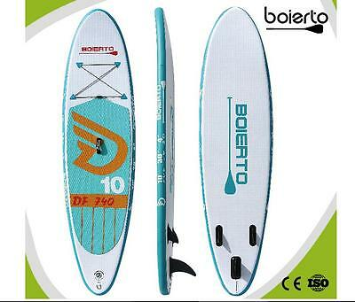 Boierto 10ft Inflatable Stand Up Paddle Board Inflatable SUP 10'X30''X4''