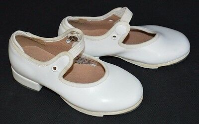 Bloch Techno #5H WHITE Toddler Girls Tap Shoes w/ Snap Strap Size 7 M