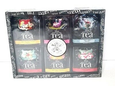 Disney Parks Alice Wonderland Tea Chest  36 Variety Tea Bags 6 Flavors Sealed